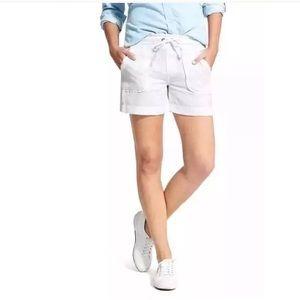 ATHLETA • Linen Shorts in White Sz 2